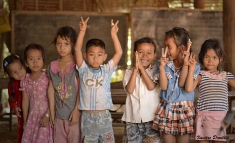 L'école à la maison – Sur les bords du Mekong – Cambodge