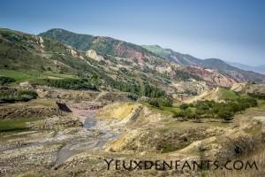 Entre Dushambé et Qalai Khum - Palette de peinture au naturel