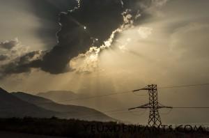 Jeux de lumières avec les nuages - Région de Toktogul